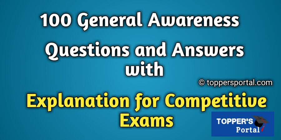 100 GK Questions with Answers in English