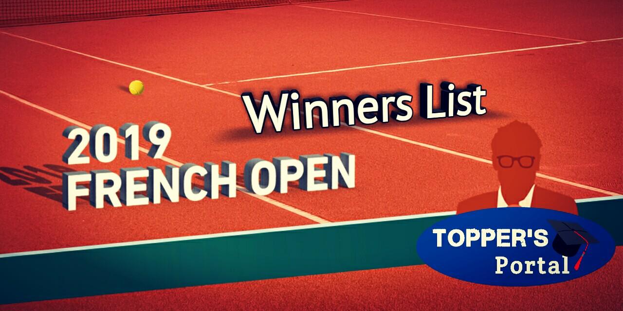 French Open 2019 winners