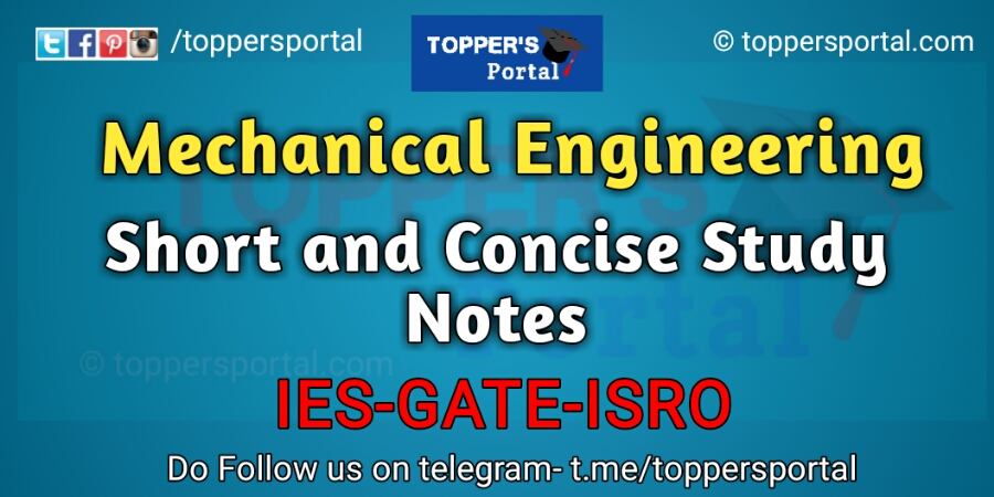Mechanical Engineering Short Notes