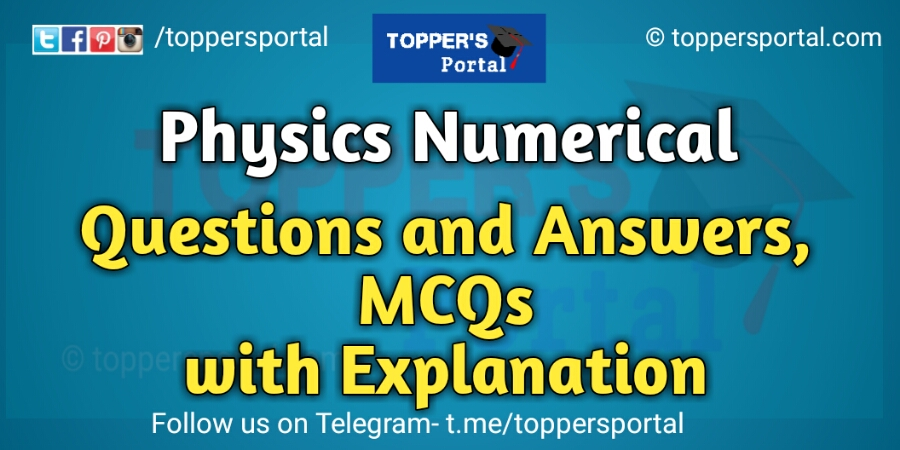 physics numerical question answer