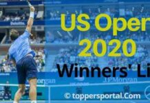 2020 US Open tennis Winners