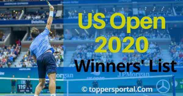 2020 US Open tennis Winners