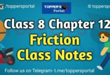 Friction Class 8 Notes