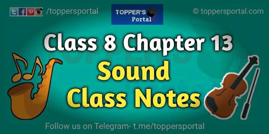 Class 8 Sound Notes