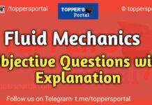 Fluid Mechanics Objective Questions