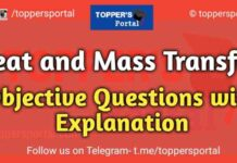 Heat and Mass Transfer Objective Questions