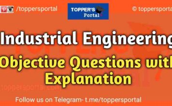 Industrial Engineering Objective Questions