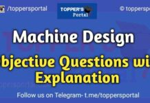 Machine Design Objective Questions