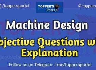 Machine Design Objective Questions