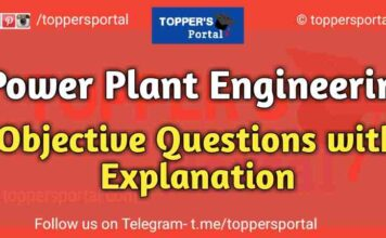 Power Plant Objective Questions