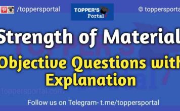 Strength of Materials Objective Questions