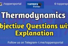 Thermodynamics Objective Questions